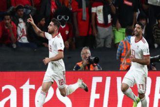 گل اول ایران مقابل عمان جهانبخش 32