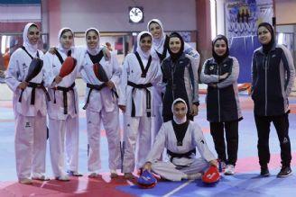 تمرین دختران تکواندو برای حضور در مسابقات قهرمانی جهان 2019