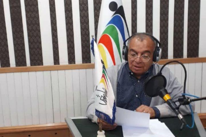 مسعود فروتن در استودیو برنامه اثر انگشت