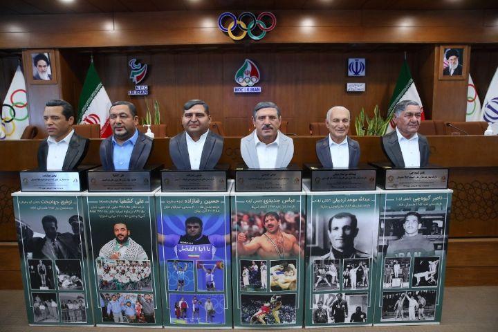 رونمایی از تندیس 6 قهرمان افتخارآفرین ایران