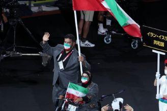 رژه کاروان ایران در افتتاحیه پارالمپیک 2020