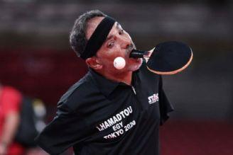 پینگپنگ باز بدون دست در پارالمپیک توکیو