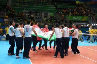مراسم اهدای مدال طلا به بازیکنان تیم ملی والیبال نشسته ایران