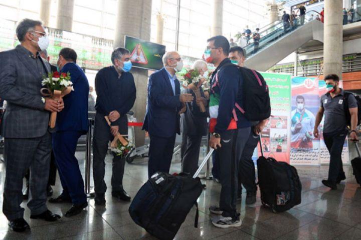 مراسم استقبال از سومین گروه ورزشکاران پارالمپیکی ایران