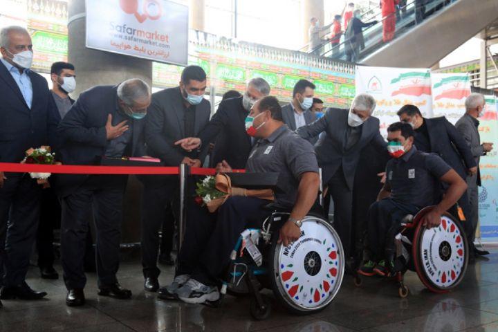 مراسم استقبال از آخرین گروه کاروان پارالمپیکی ایران