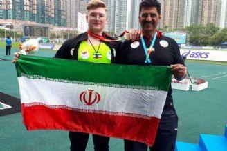 خوشرنگ ترین مدال آسیا برگردن ارسلان قشقایی