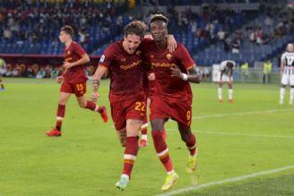 پیروزی رم مقابل اودینزه